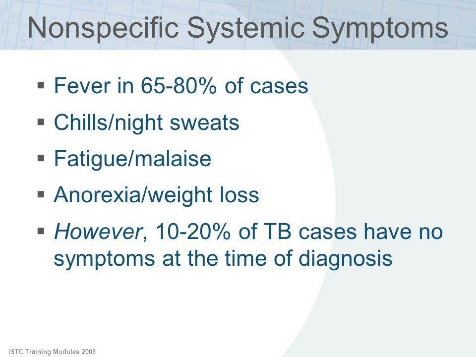 Nonspecific Systemic Symptoms