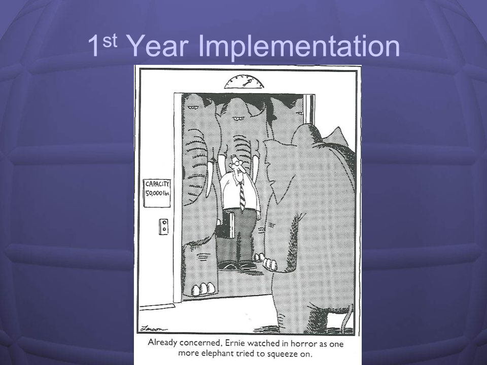 1st Year Implementation