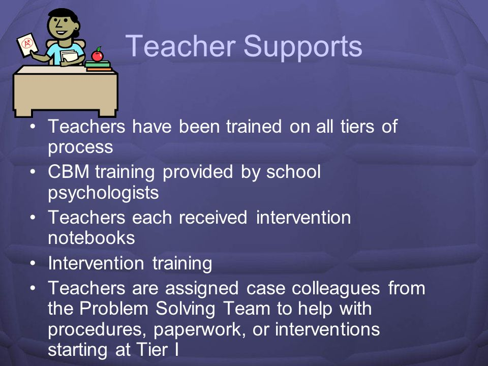 Teacher Supports Teachers have been trained on all tiers of process
