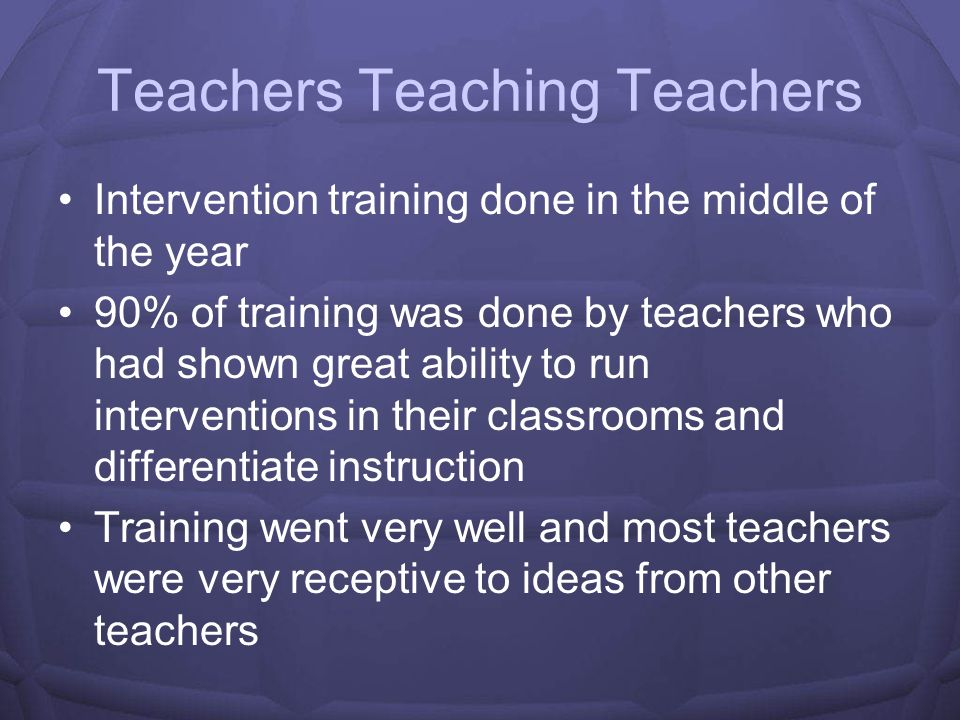 Teachers Teaching Teachers