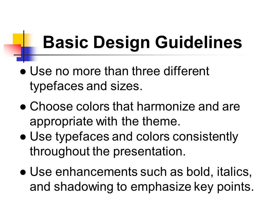 Basic Design Guidelines