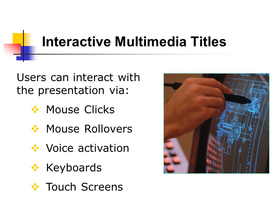 Interactive Multimedia Titles