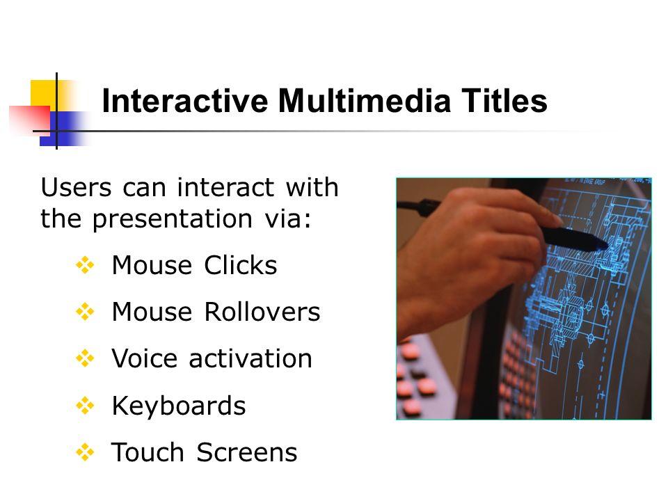Interactive Multimedia Titles
