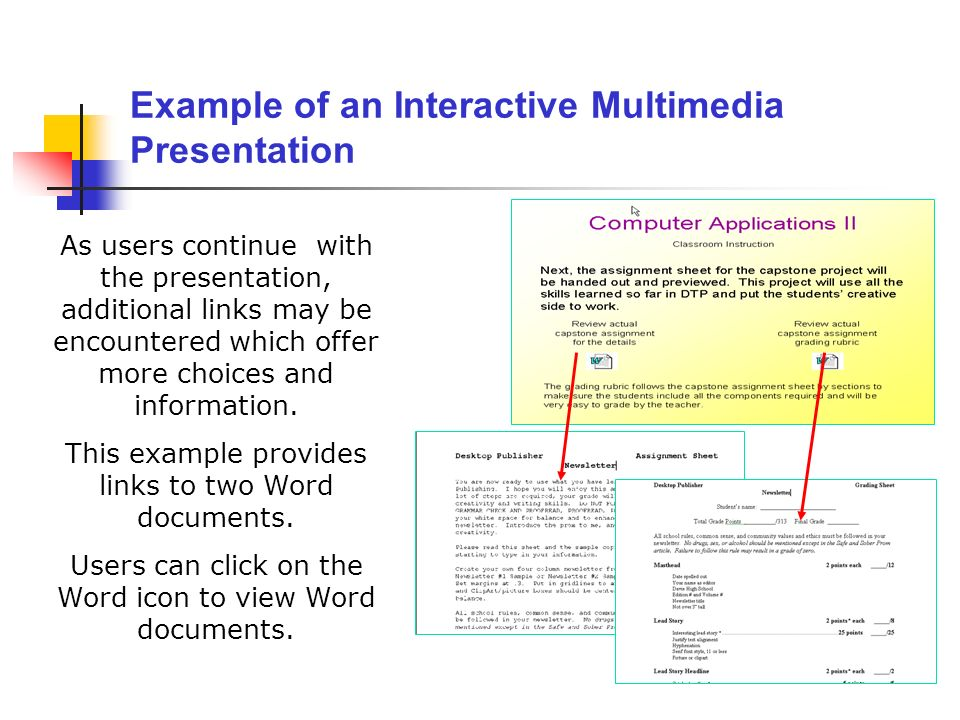 Example of an Interactive Multimedia Presentation