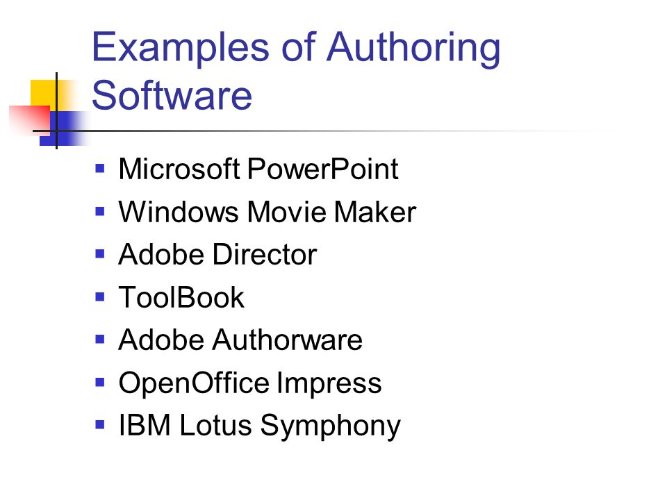 Examples of Authoring Software
