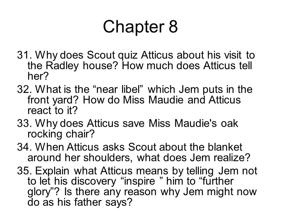 what do jem and scout learn Does scout learn anything from overhearing atticus's atticus told his children that it's a sin to kill a mockingbird because mockingbirds don't do was this a wise thing to ask her to do jem does not want scout to tell atticus about mr ewell's comment in case it means that the.