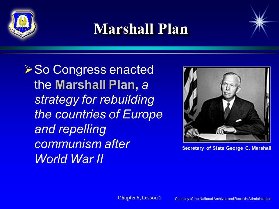 Secretary of State George C. Marshall