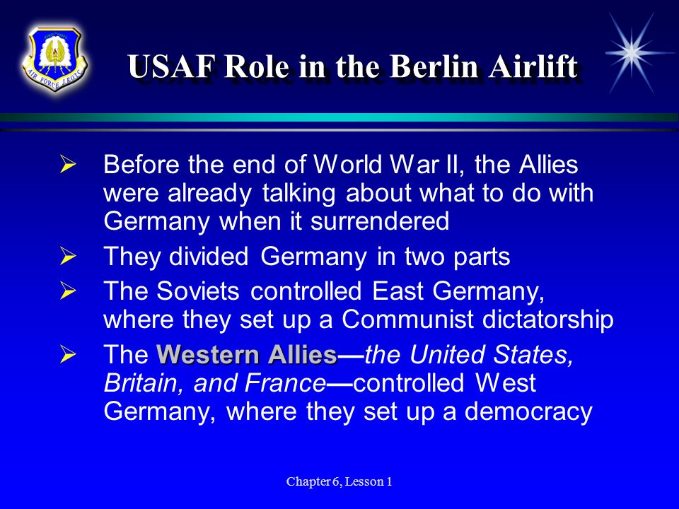 USAF Role in the Berlin Airlift