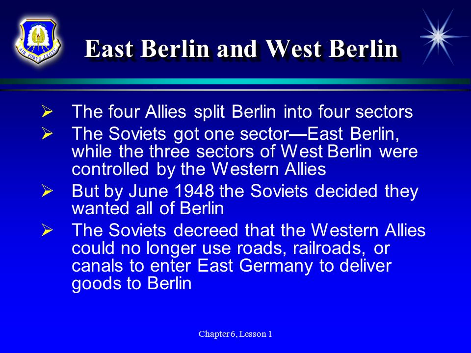 East Berlin and West Berlin