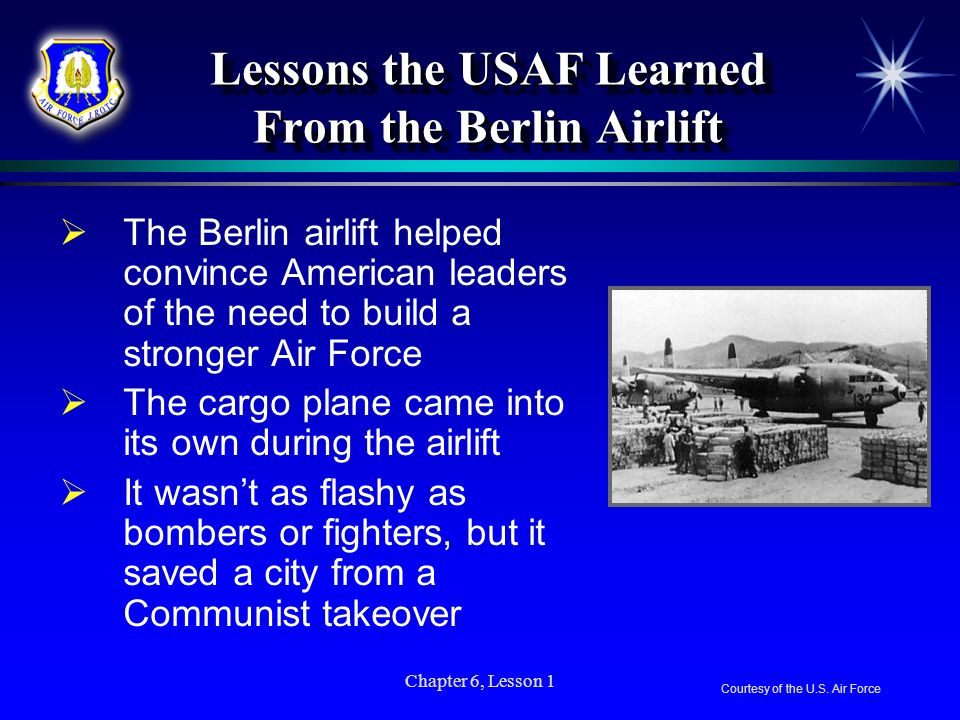 Lessons the USAF Learned From the Berlin Airlift