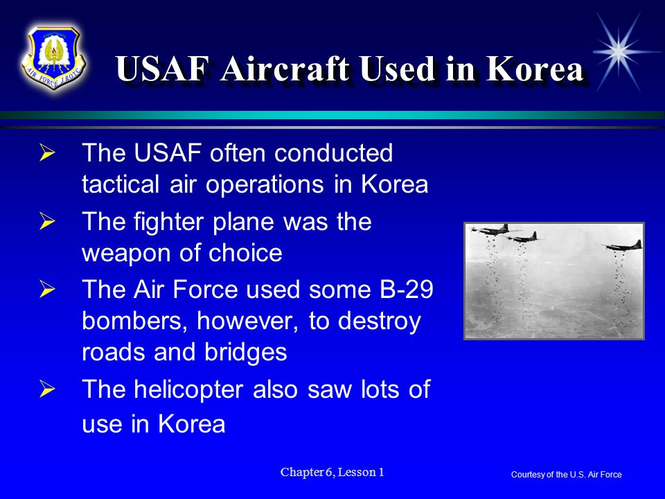 USAF Aircraft Used in Korea