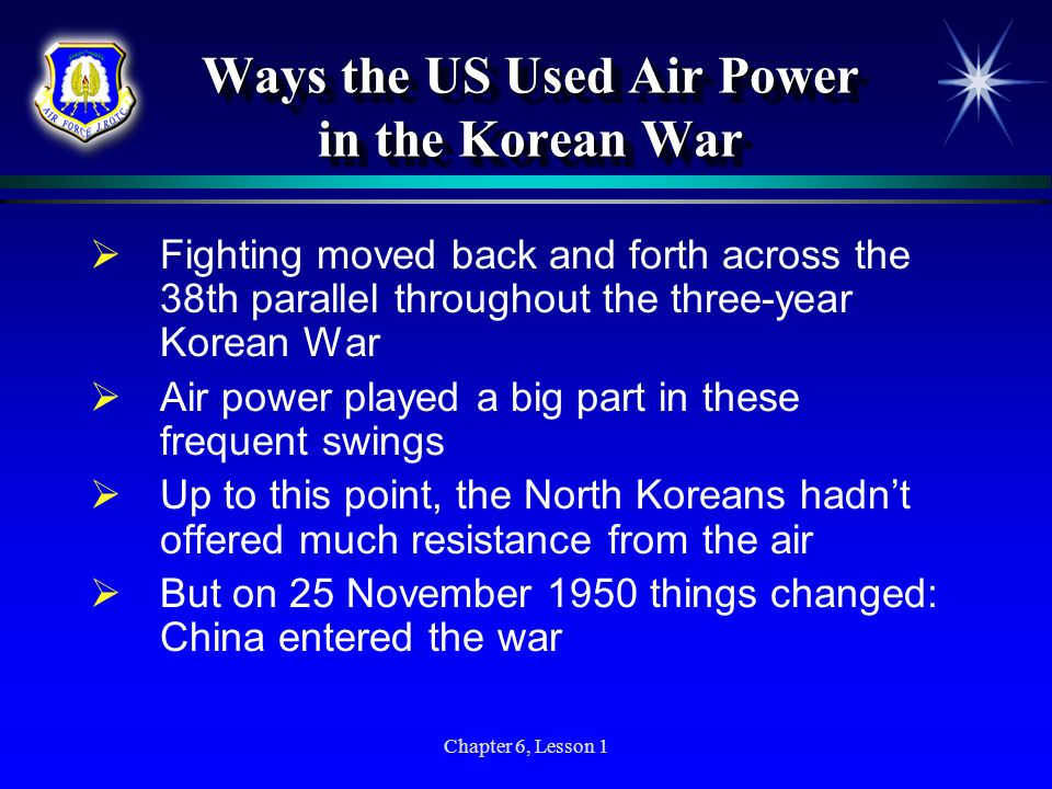 Ways the US Used Air Power in the Korean War