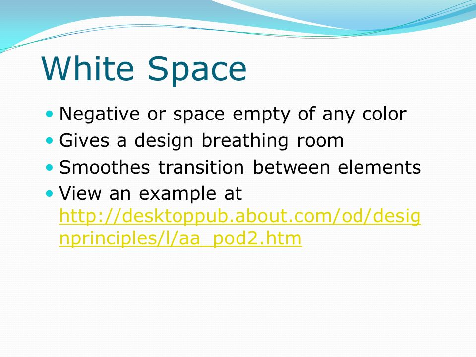 White Space Negative or space empty of any color
