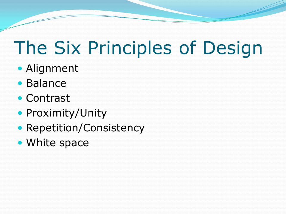 The Six Principles of Design