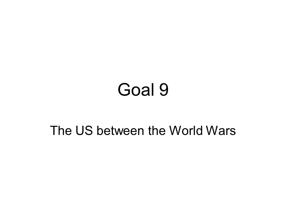 The US between the World Wars