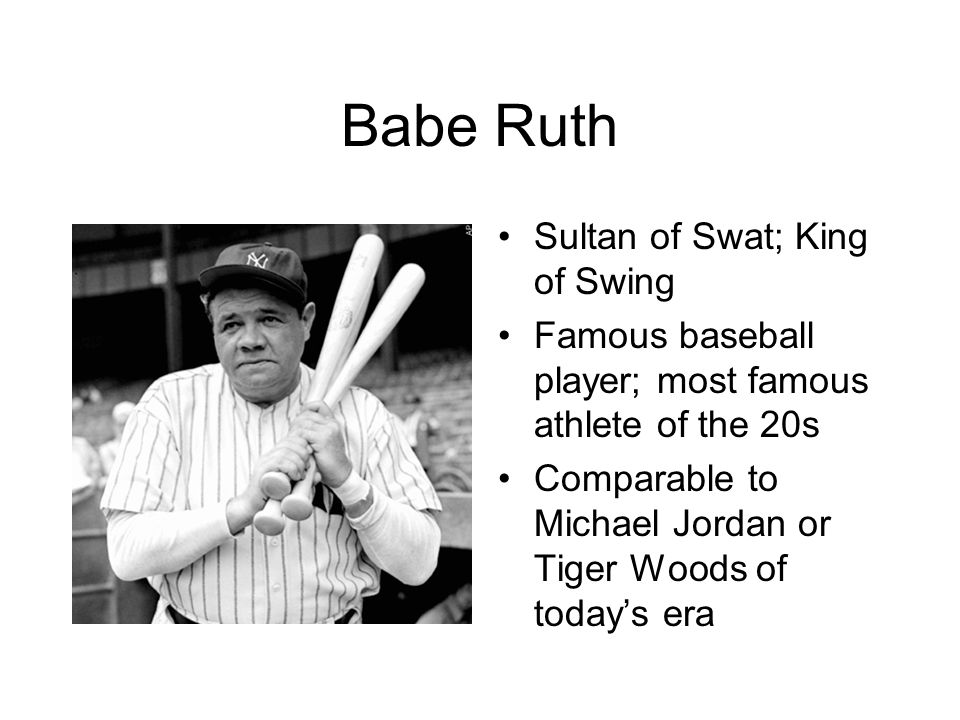 Babe Ruth Sultan of Swat; King of Swing