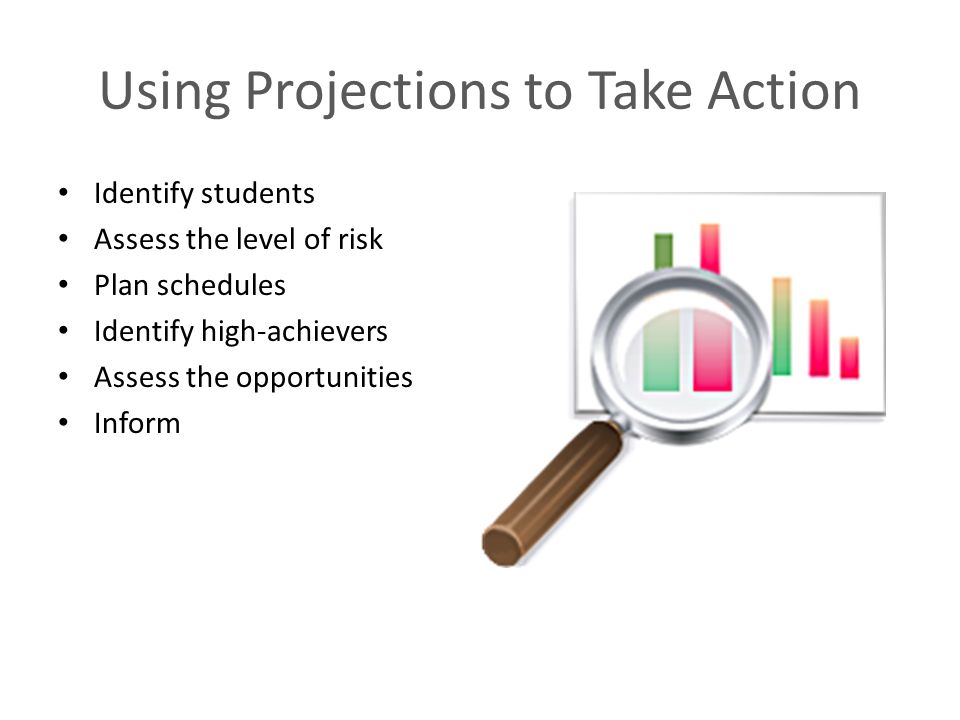 Using Projections to Take Action