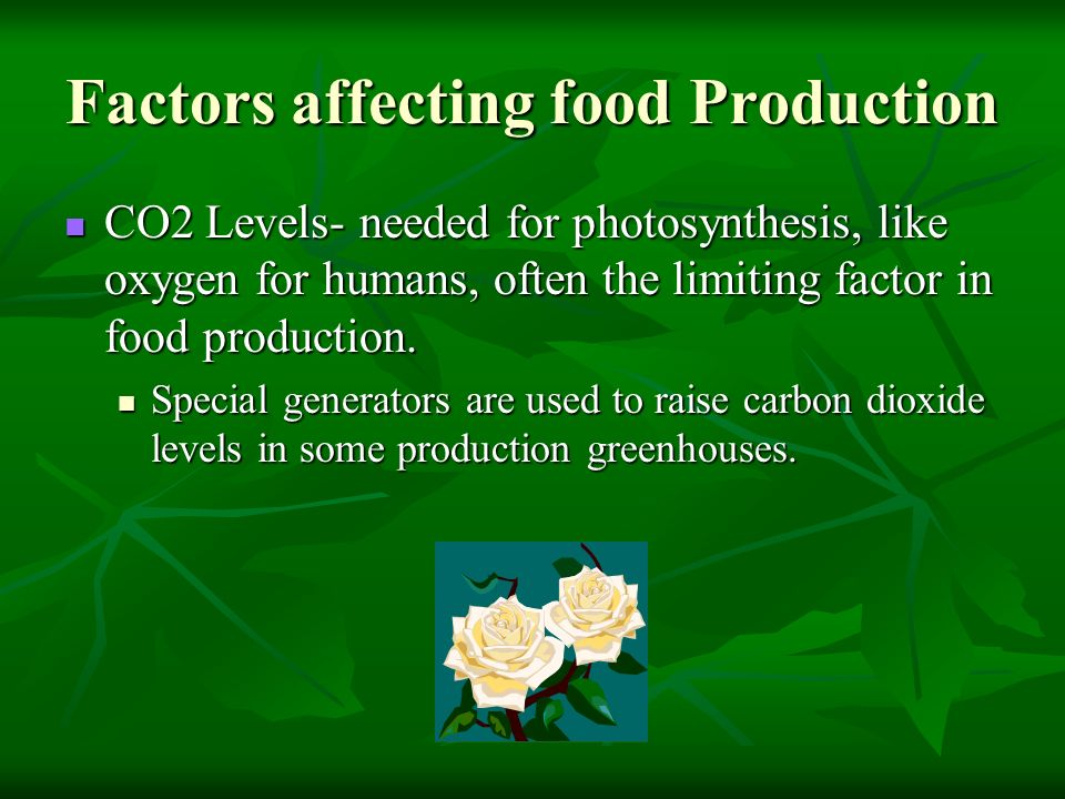 Factors affecting food Production