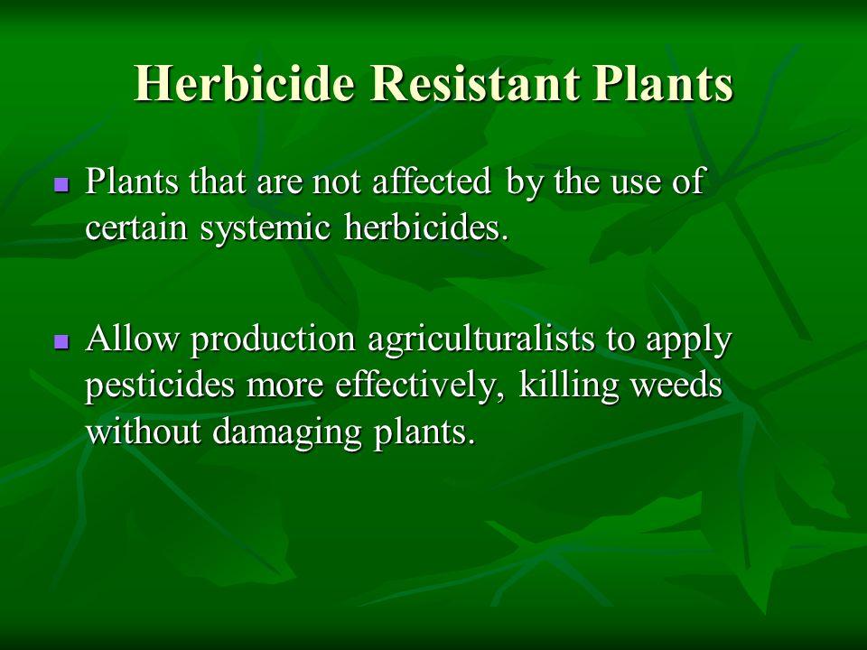 Herbicide Resistant Plants