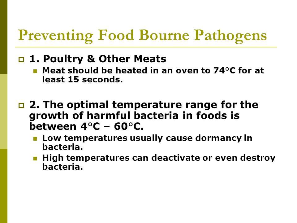Preventing Food Bourne Pathogens