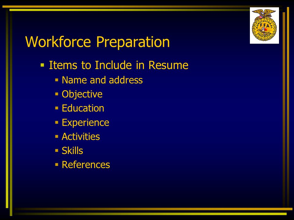 Workforce Preparation