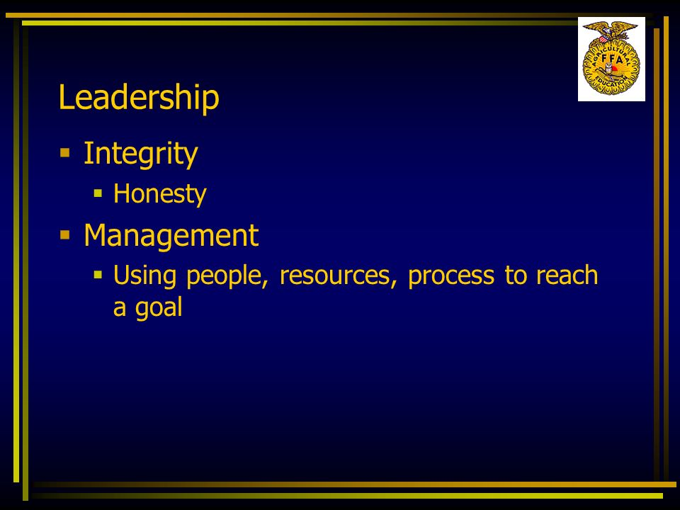 Leadership Integrity Management Honesty