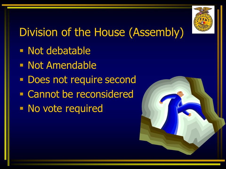 Division of the House (Assembly)