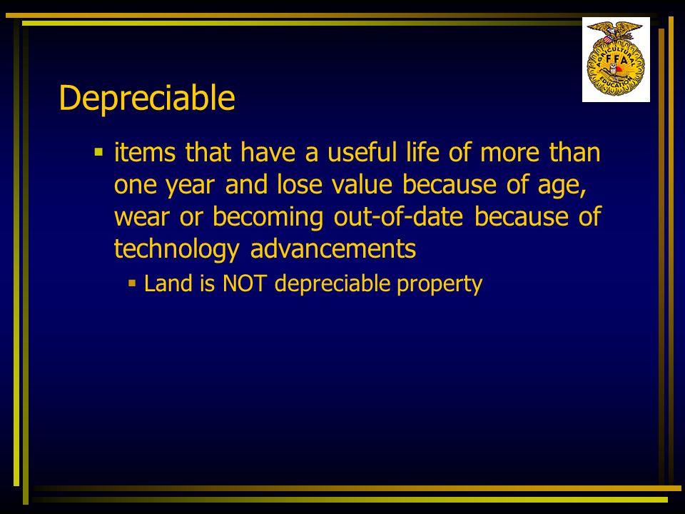 Depreciable