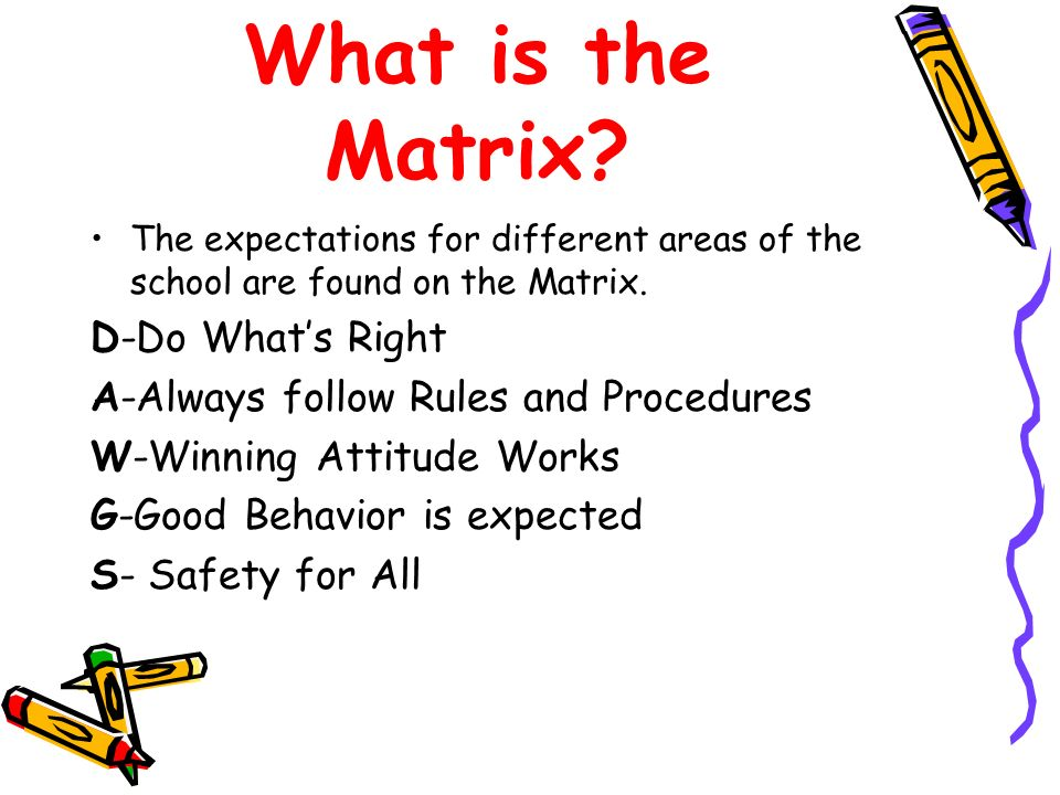 What is the Matrix D-Do What's Right