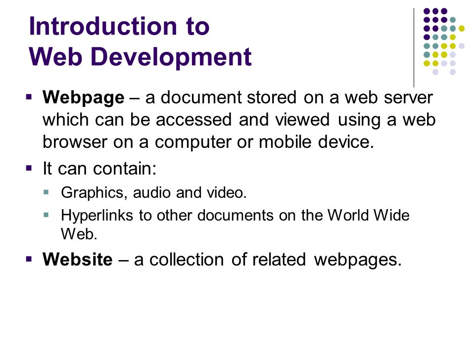 Introduction to Web Development
