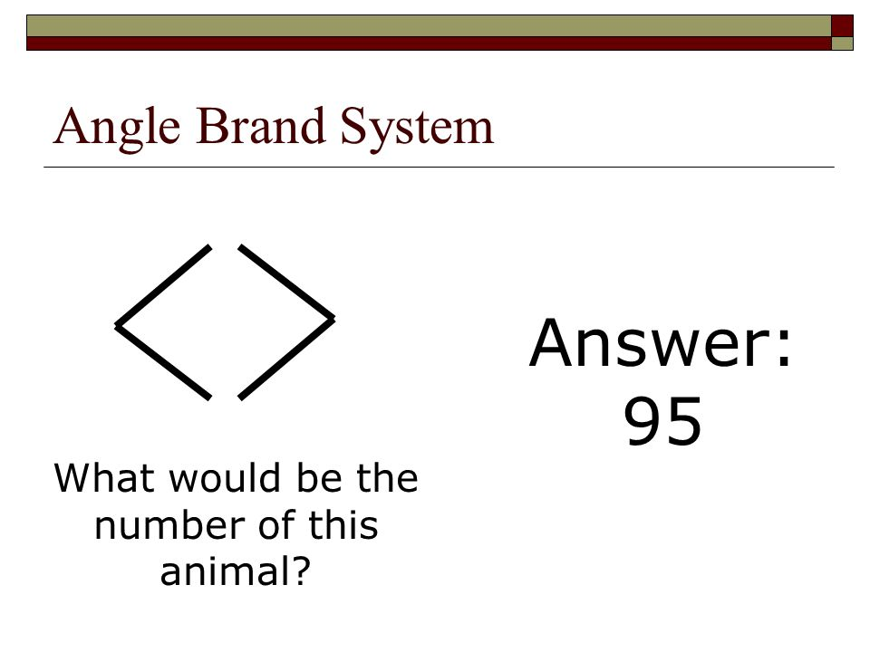 What would be the number of this animal