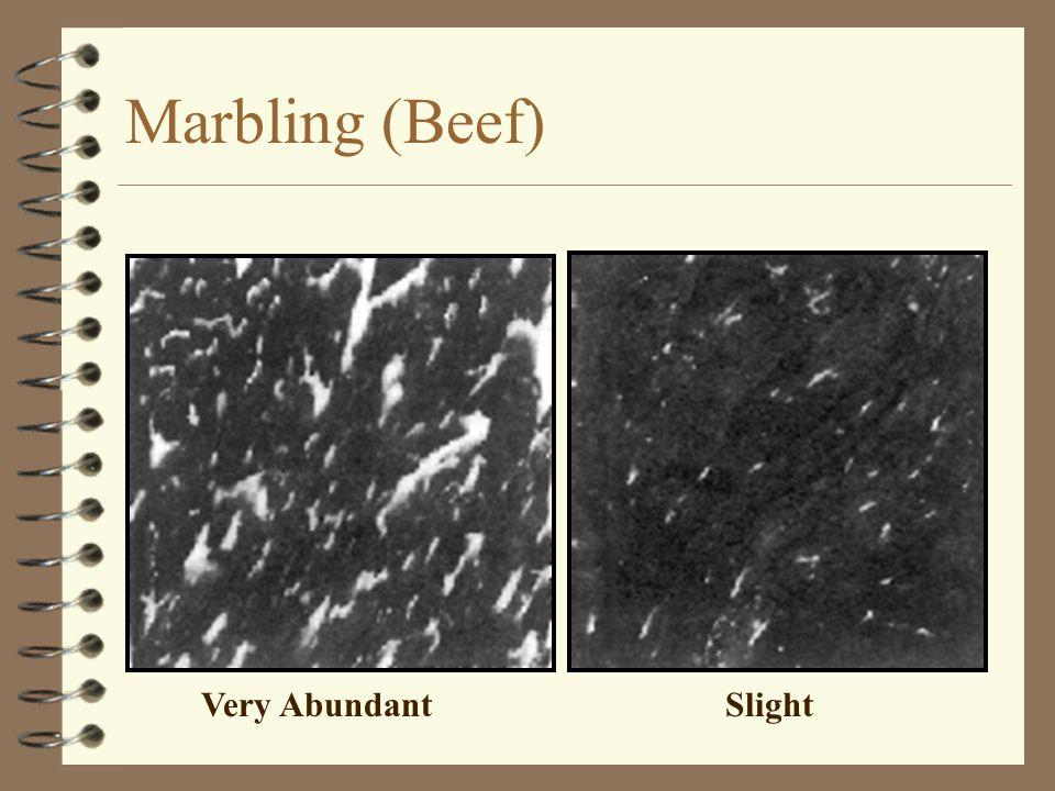 Marbling (Beef) Very Abundant Slight
