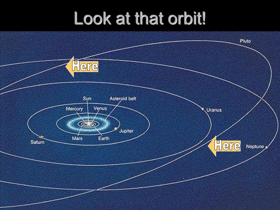 Look at that orbit! Here Here