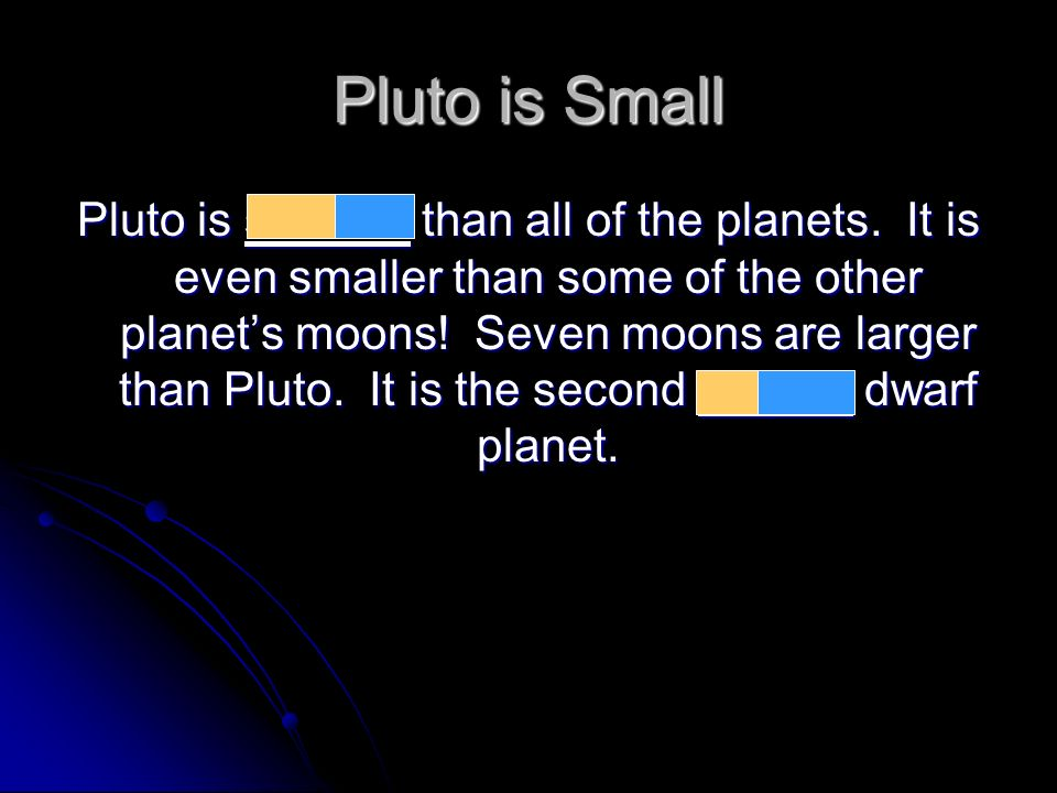 Pluto is Small