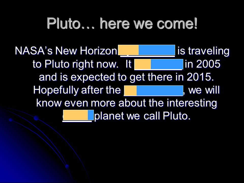 Pluto… here we come!