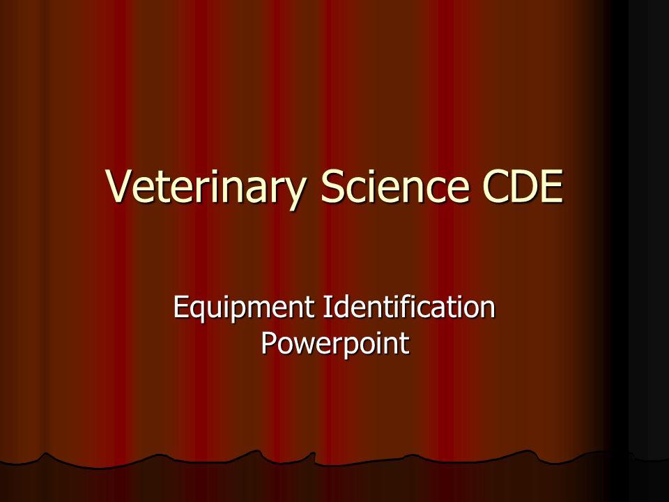 Veterinary Science CDE