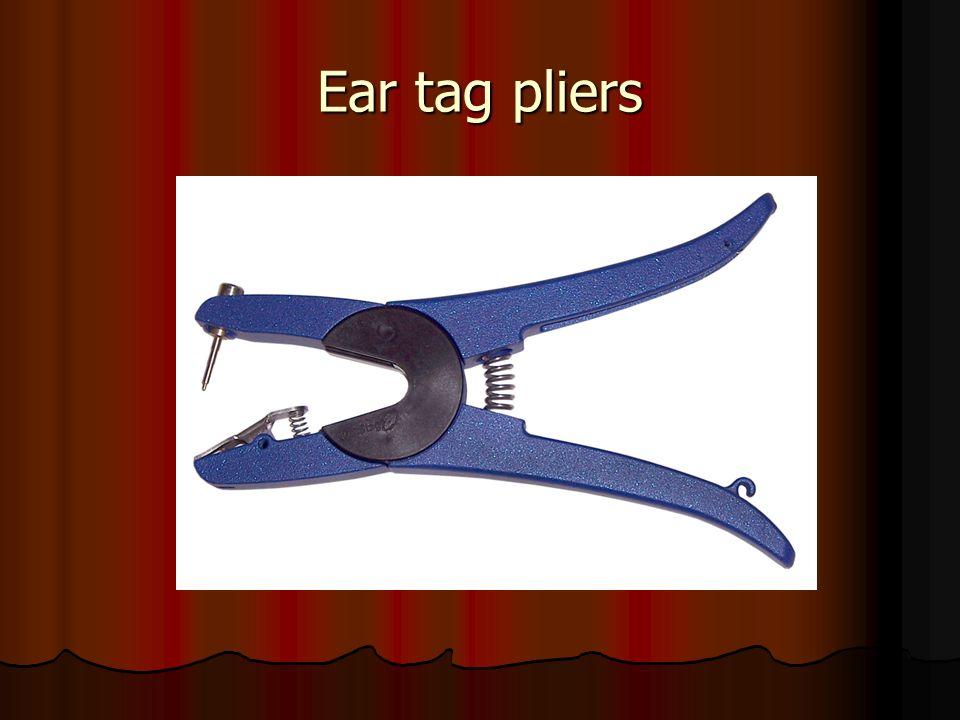 Ear tag pliers