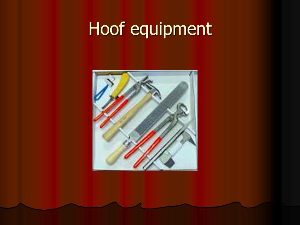 Hoof equipment