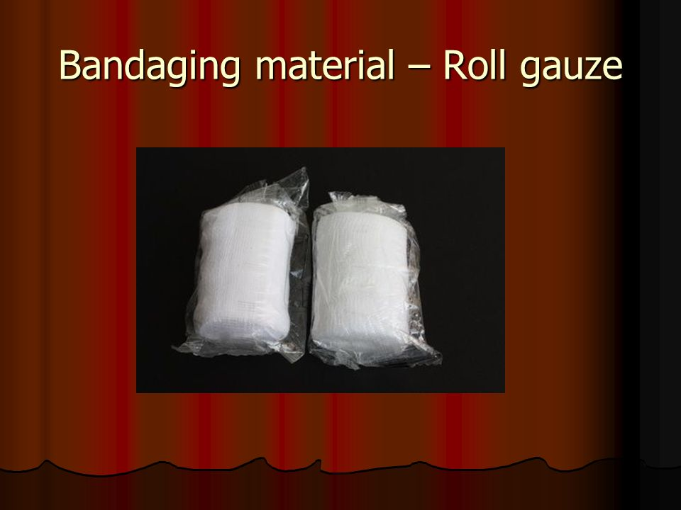 Bandaging material – Roll gauze