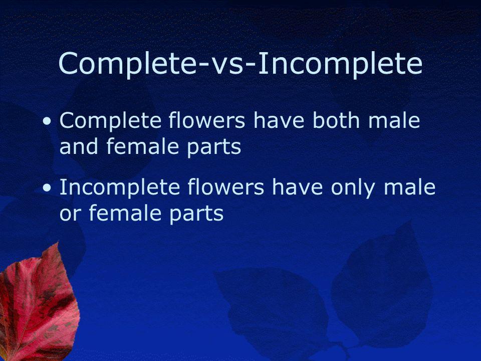 Complete-vs-Incomplete