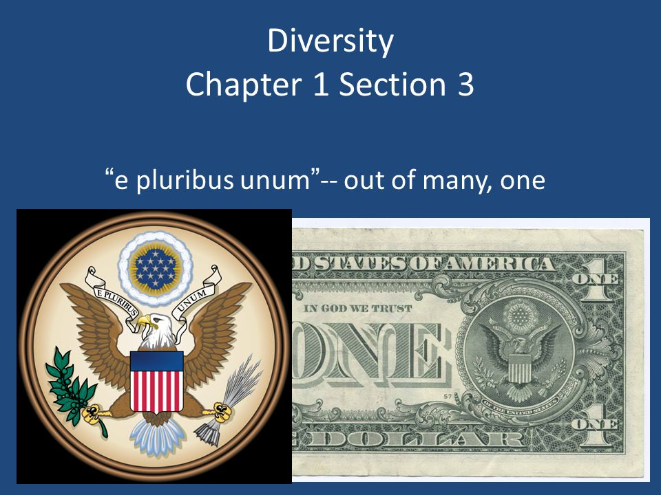 Diversity Chapter 1 Section 3