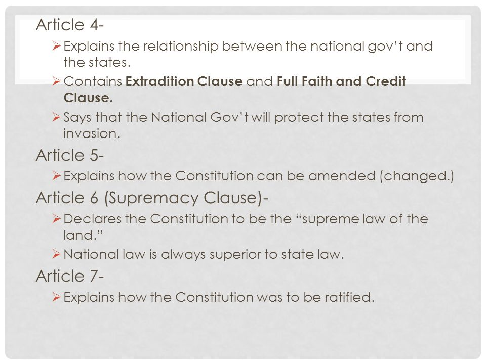 Article 6 (Supremacy Clause)-