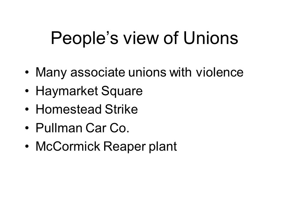 People's view of Unions
