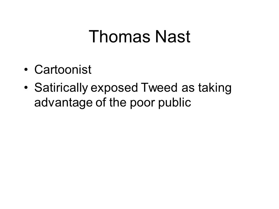 Thomas Nast Cartoonist