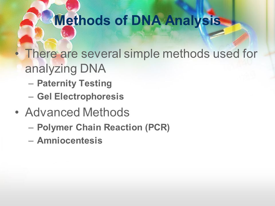 Methods of DNA Analysis