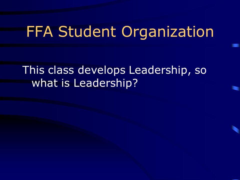 FFA Student Organization