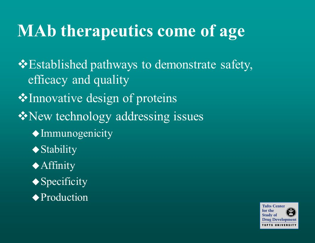 MAb therapeutics come of age