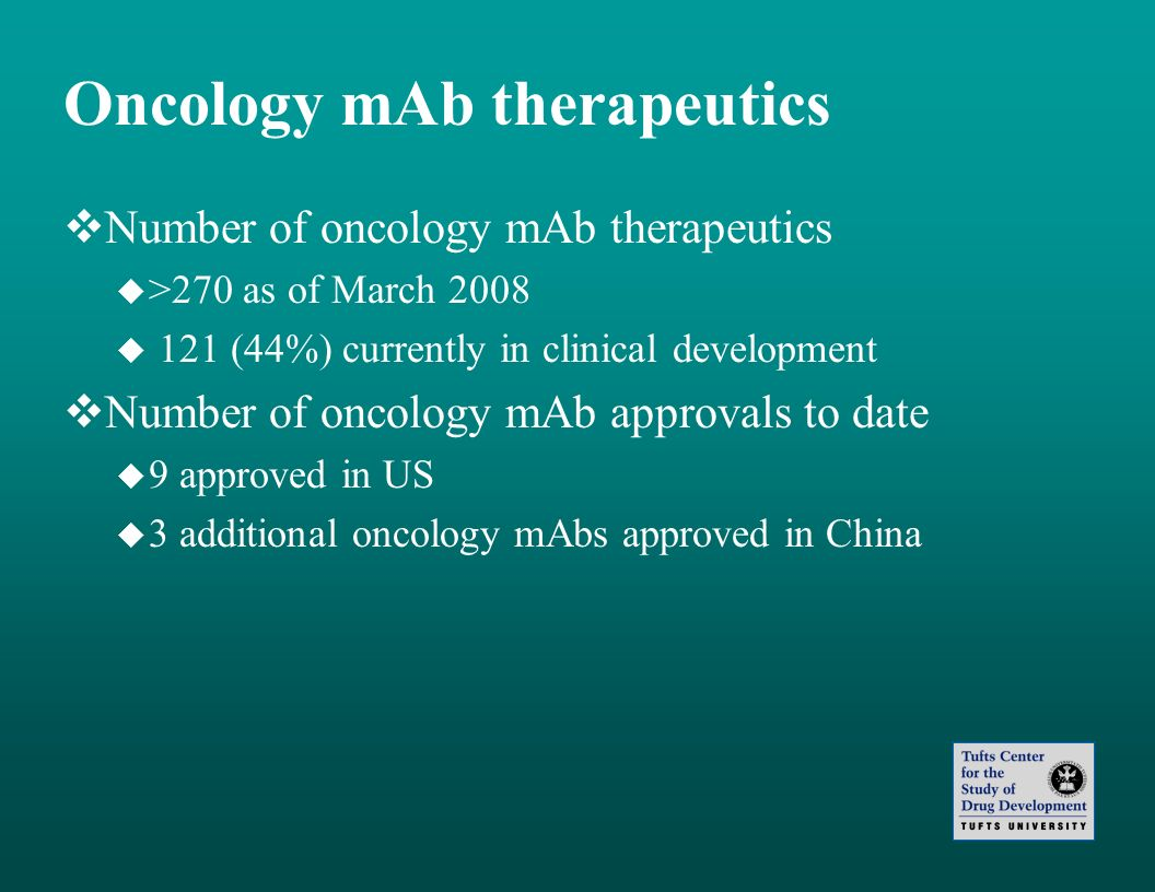 Oncology mAb therapeutics