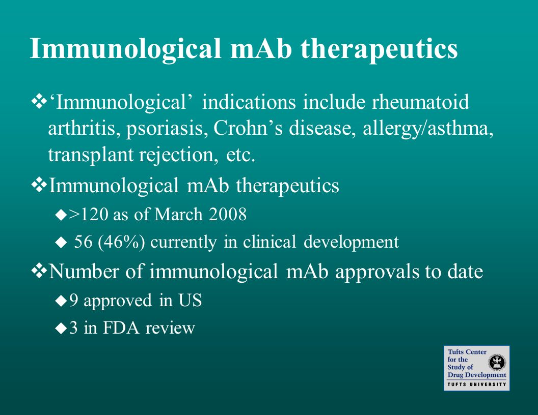 Immunological mAb therapeutics