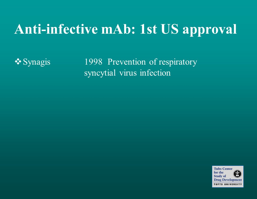 Anti-infective mAb: 1st US approval